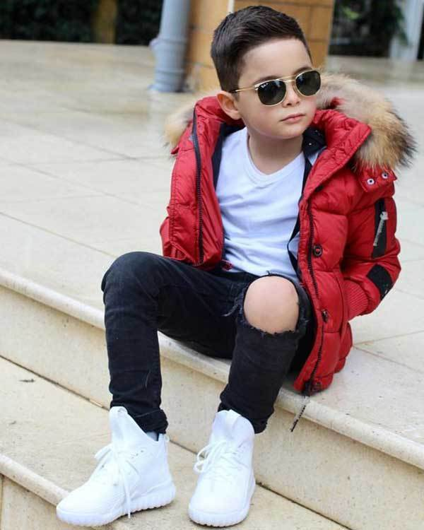 Toddler Boy Red Coat Outfits-12