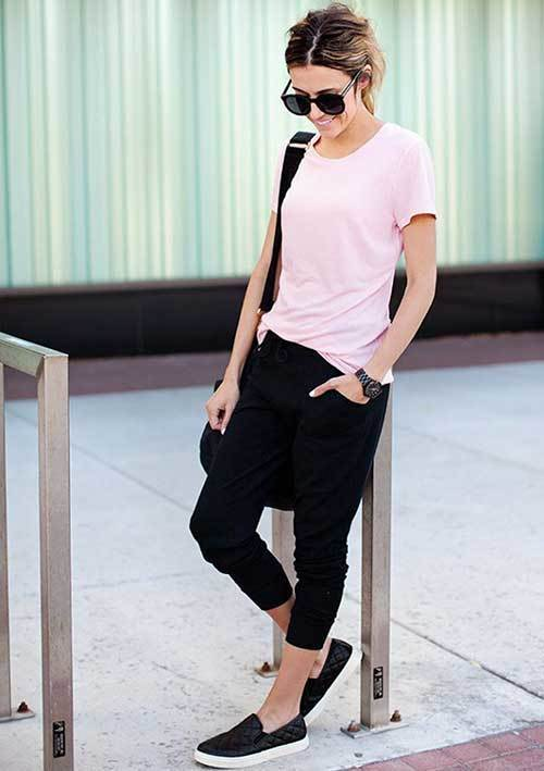 Simple Jogger Pants Outfit Ideas-12