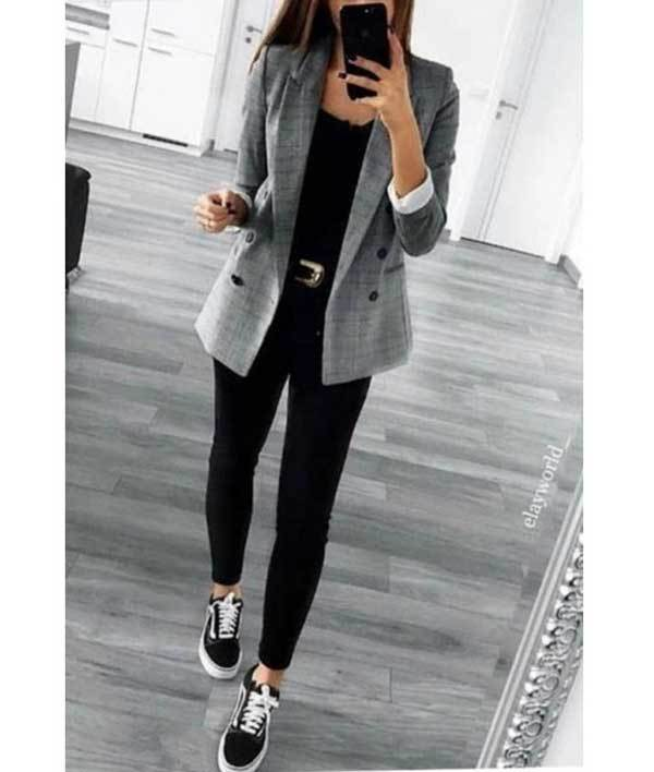 Black Vans Work Outfit Ideas-13
