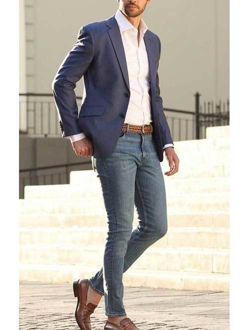 Best Blazer with Jeans Casual Attire for Men-13
