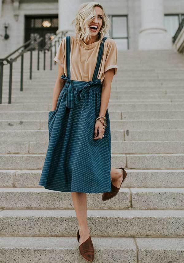 Cute Midi Skirt Outfit Ideas-13