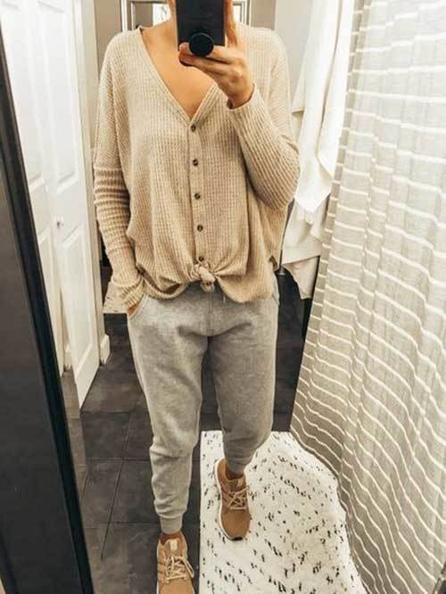Casual Jogger Pants Outfit Ideas-14
