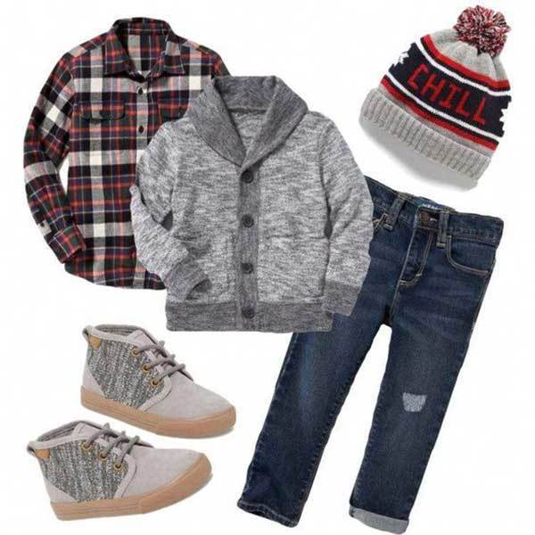 Toddler Boy Plaid Outfits-15