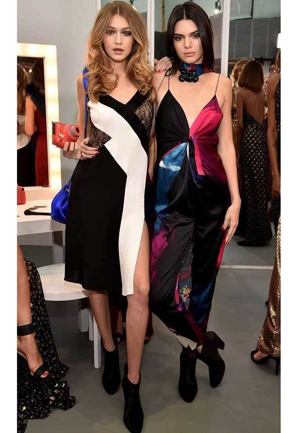 Gigi Hadid and Kendall Dress and Jumpsuit-16