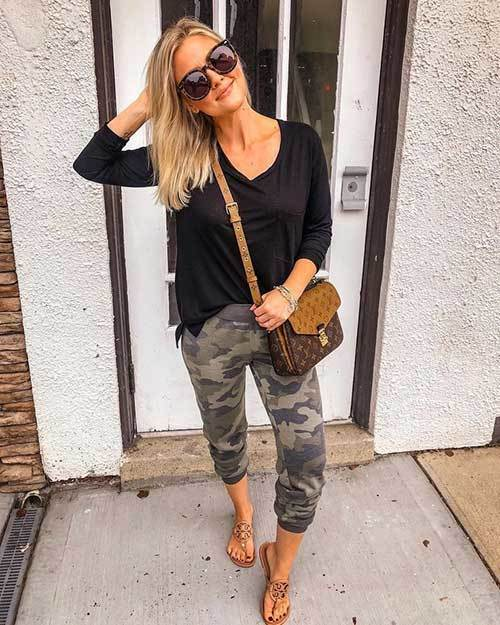Camo Jogger Pants Outfit Ideas-17