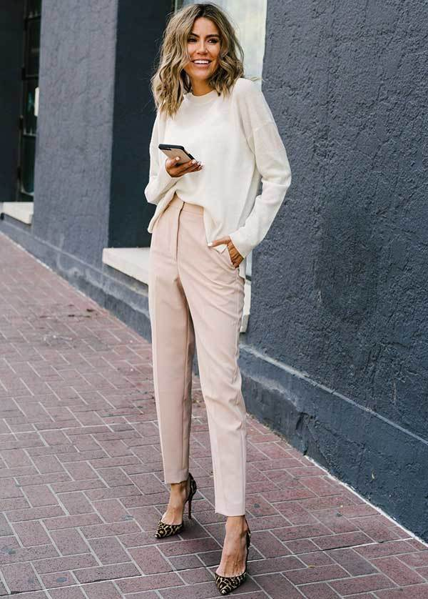 Work Pink Pants Outfit Ideas-18