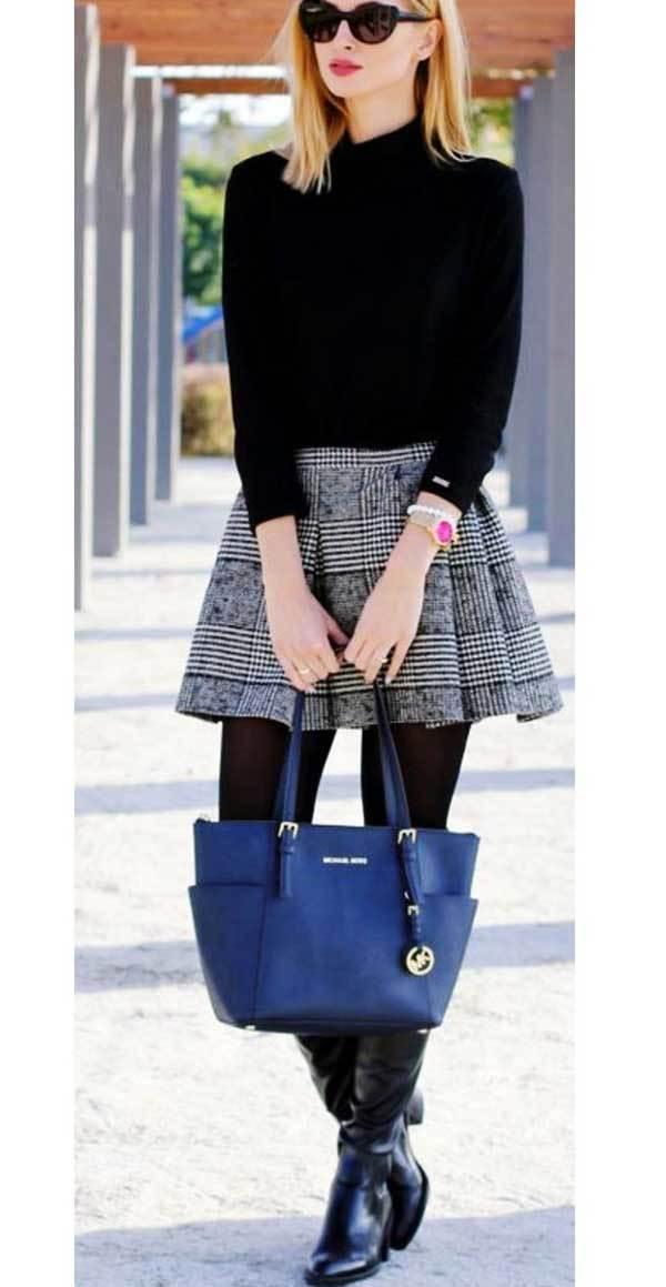 Women Winter Skirt Outfits-18