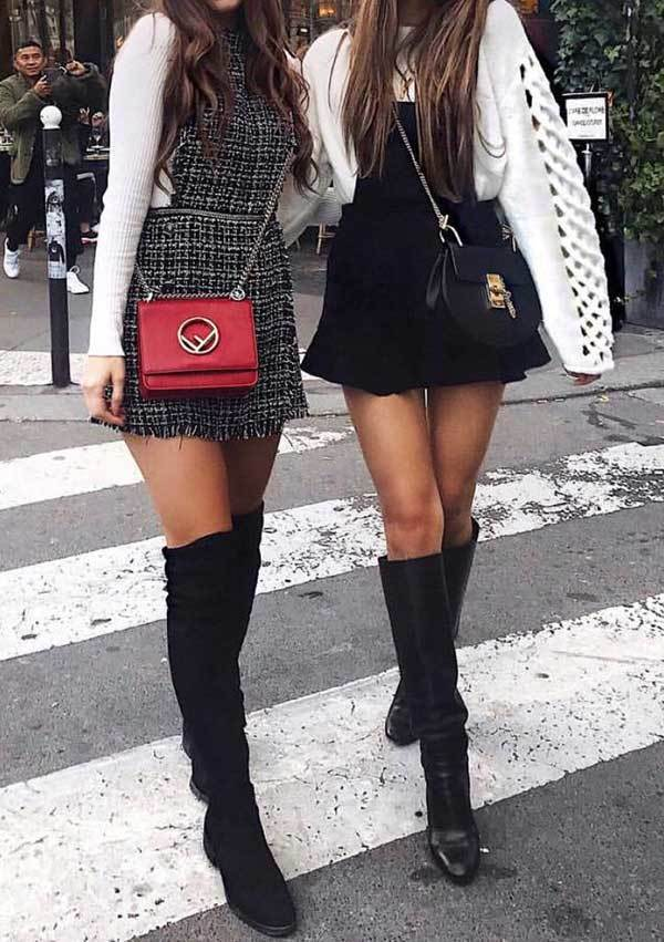 Winter Skirt Outfits-20