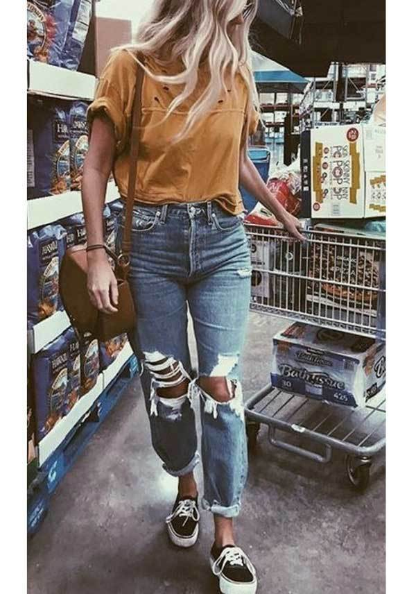 Casual Ripped Jeans Spring Outfits-20