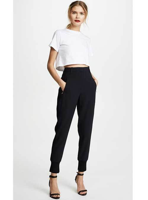 Classy Jogger Pants Outfit Ideas-21