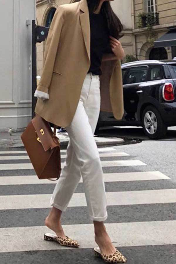 Camel Blazer Work Outfit Ideas-21