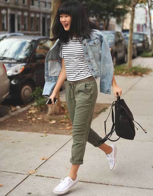 Olive Green Jogger Pants Outfit Ideas-22