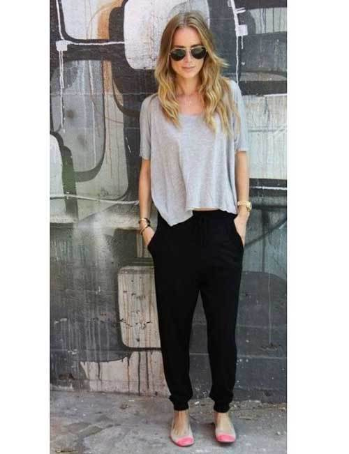 Lazy Jogger Pants Outfit Ideas-23