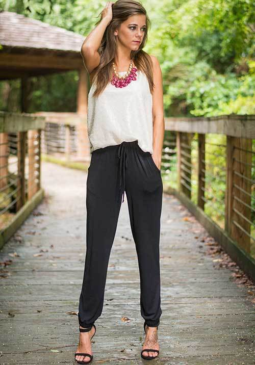 Casual Jogger Pants Outfit Ideas-26