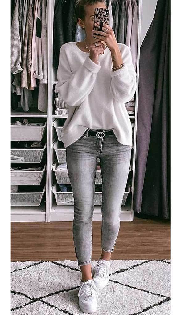 Casual Shirt and Jeans Spring Outfits-29