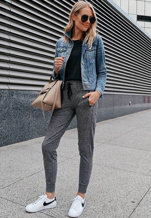 Street Style Jogger Pants Outfit Ideas-30