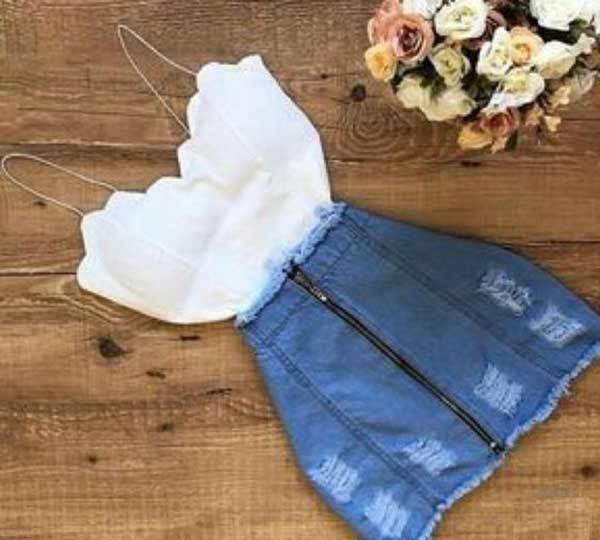Denim Skirt Summer Outfits for Women-46