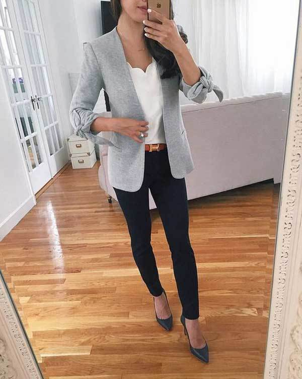 Work Blazer Outfit Ideas-6