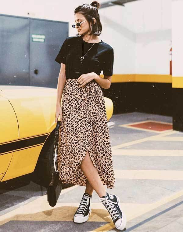 Casual Midi Skirt Spring Outfits-6