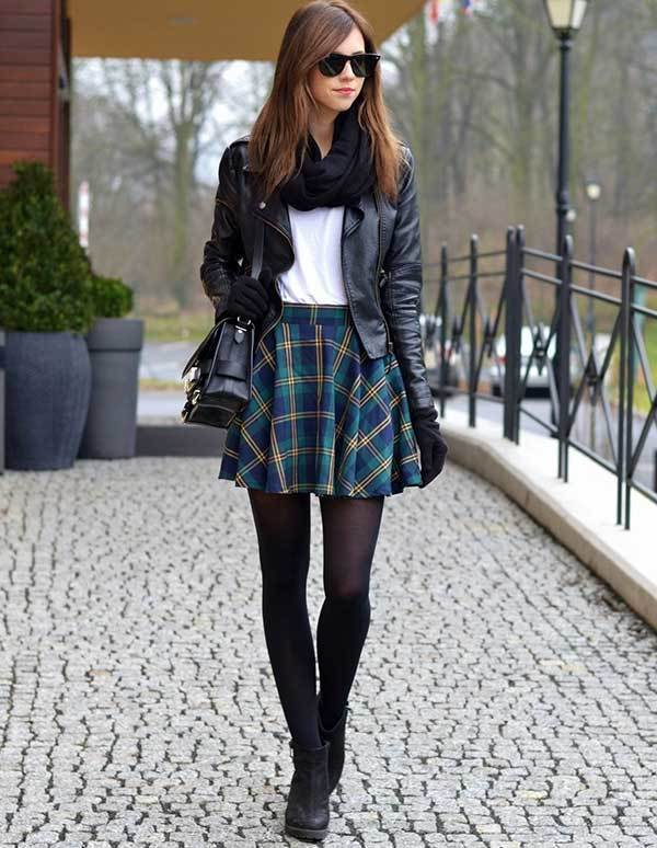 Winter Circle Skirt Outfits-7
