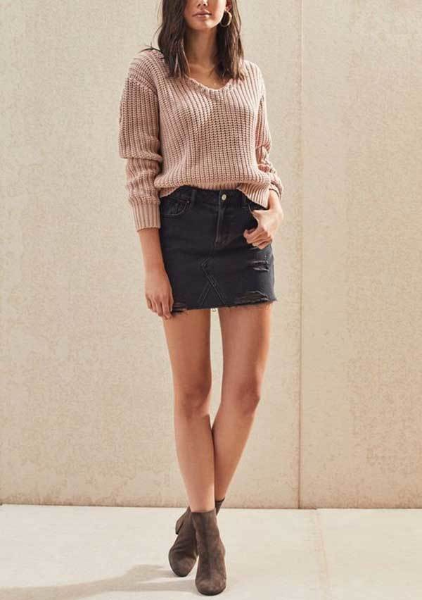 Casual Winter Skirt Outfits-9