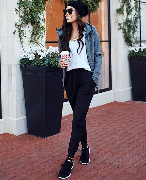 Casual Jogger Pants Outfit Ideas-9