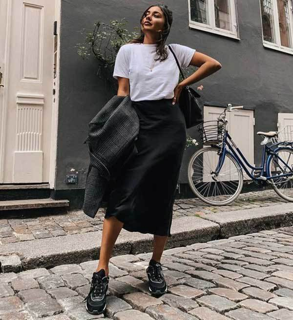 Simple Midi Skirt Outfit Ideas-9