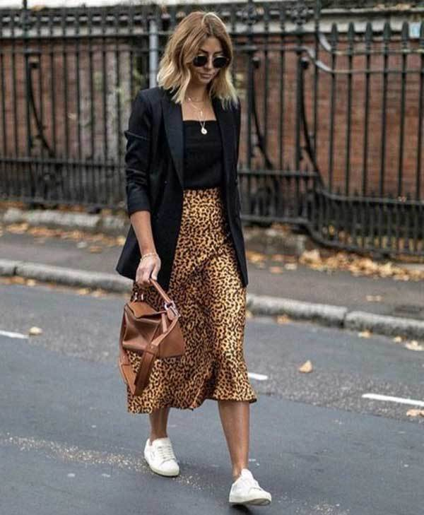 High Waisted Midi Skirt Outfits