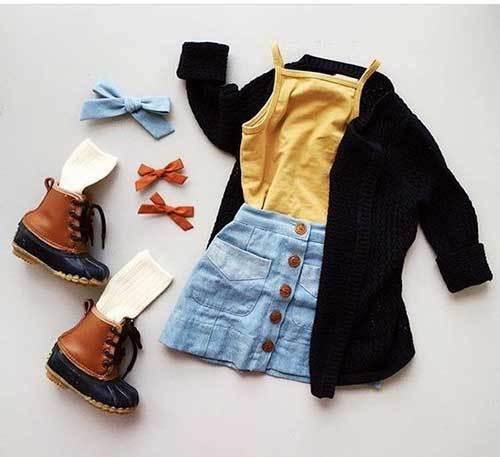 Little Girl Skirt Outfits for Fall