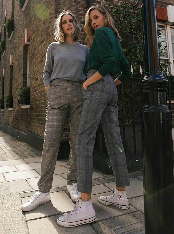 Checkered Trousers London Fashion Street Style