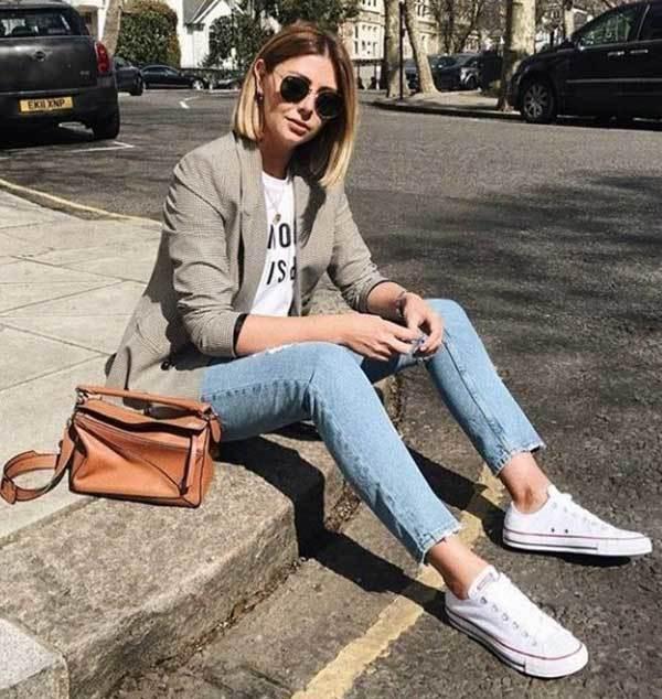 Blazer Outfit Skinny Jeans
