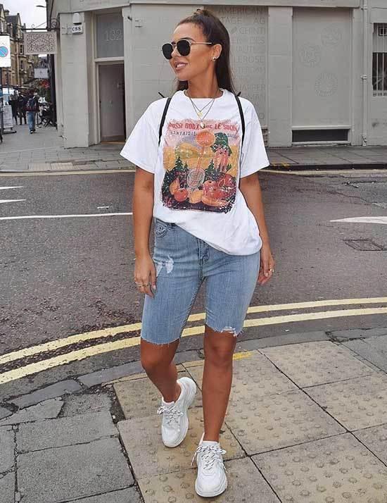 Street Style Cut off Jean Shorts-15