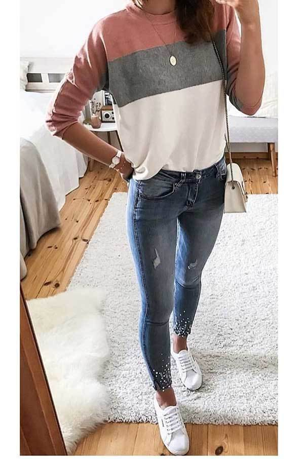 Cute Casual Outfits with Sneakers