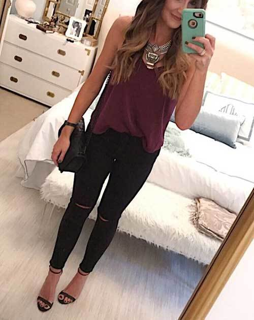 Simple Date Night Out Outfits