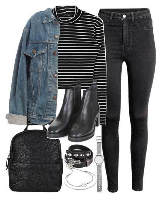 Denim Jacket Fall Outfits for Women