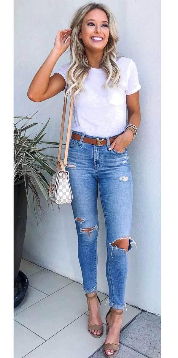 High Waist Skinny Jeans Outfits