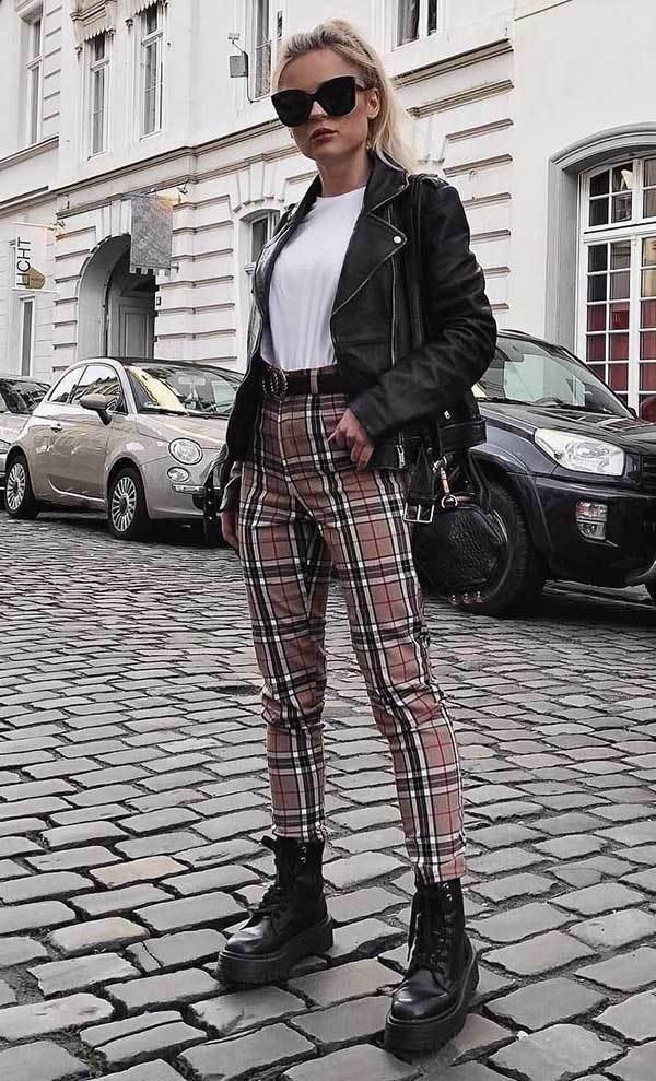 Plaid Pants London Street Style