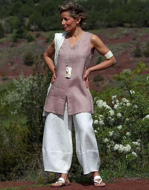 Summer Linen Outfits for Women Over 50