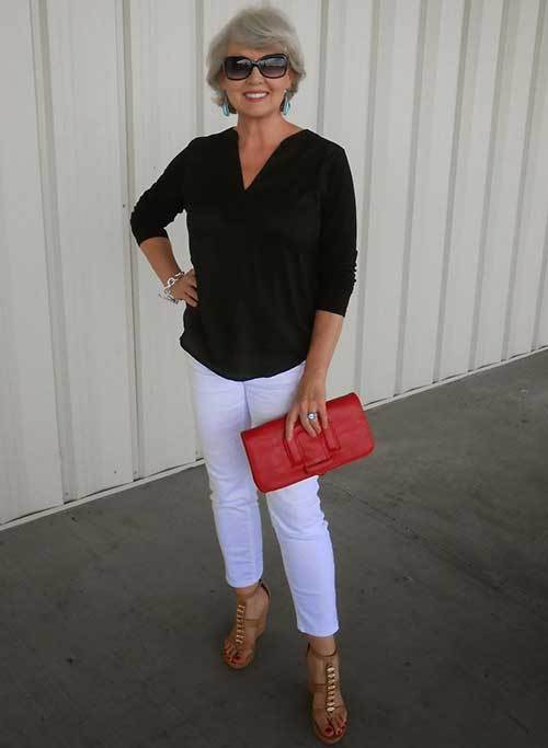 Summer Sandals Outfits for Women Over 50