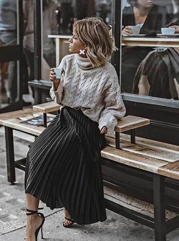London Long Skirt Fashion Street Style