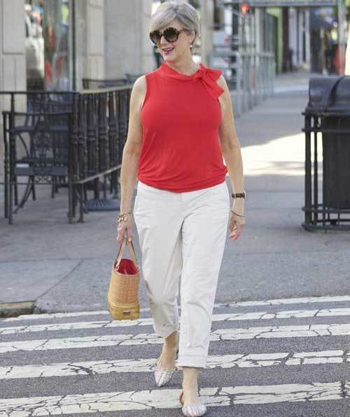 Summer Outfits with Flats for Women Over 50