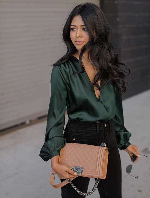 Simple Green Shirt Night Out Outfits