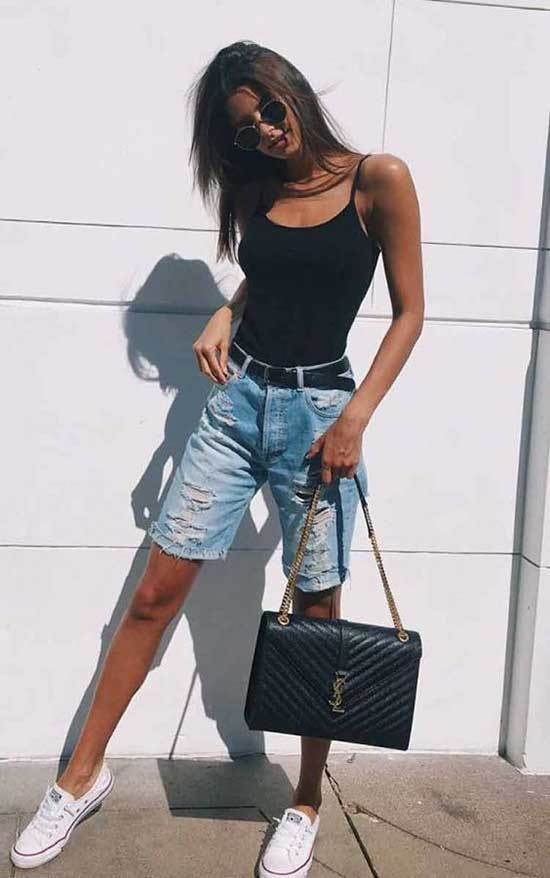 Simple Cut off Jean Shorts