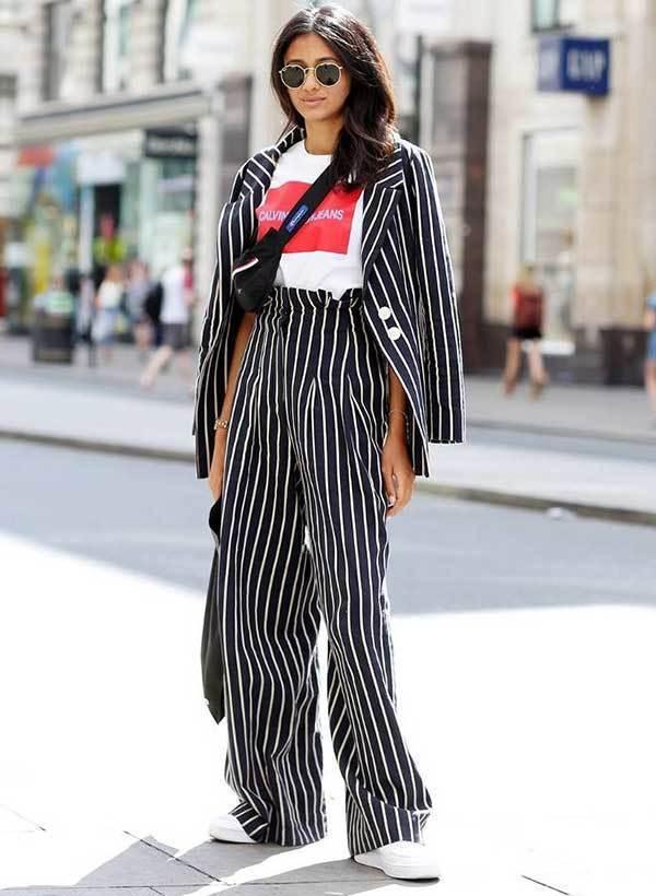 London Fashion Street Style Suit