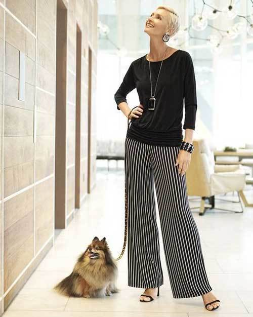 Wide Legged Summer Outfits for Women Over 50