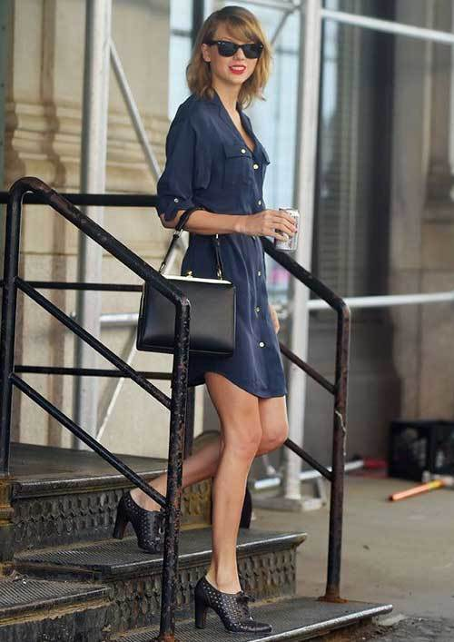 Taylor Swift Shirt Dress Outfits