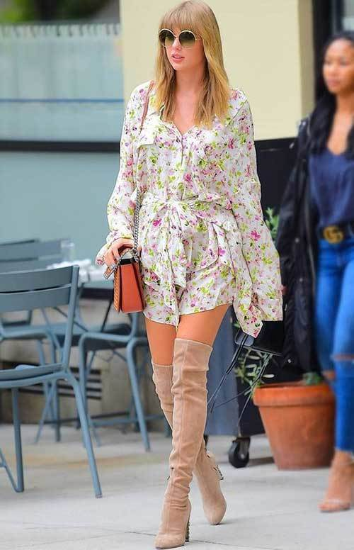 Taylor Swift High Knee Boots Outfits