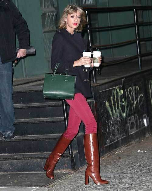 Taylor Swift Knee High Boots Outfits