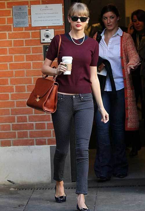 Taylor Swift Capri Pants Outfits
