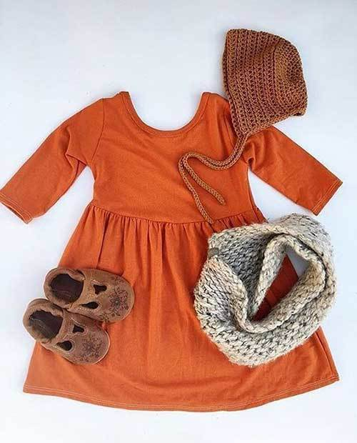 Little Girl Cozy Outfits for Fall
